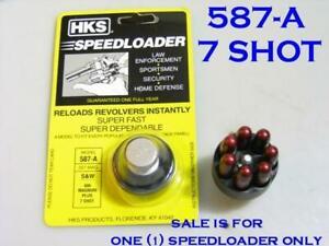 HKS 587-A SpeedLoader for 7-Shot S&W 38/357 L Frame 686 TAURUS 66 617 817 827
