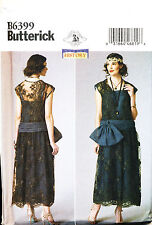 BUTTERICK SEWING PATTERN 6399 MISSES 6-14 GATSBY '20s CHARLESTON FLAPPER COSTUME