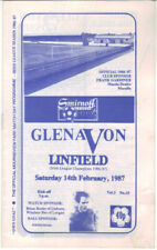 1986/87 Glenavon v Linfield - Irish League - 14th Feb - Vol 5 No 15
