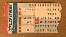 1978 Foghat Cheap Trick Cincinnati Ohio Concert Ticket Stub Slow Ride Surrender