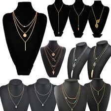 Vogue Simple Jewelry Infinity Charm Chocker Pendant Clavicle Chain Bib Necklace