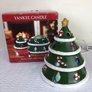 Yankee Candle Electric Tarts Wax Melts Warmer Christmas Tree  w/ Box