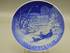 "B&G Bing & Grondahl 1970 ""Pheasants in Snow"" Christmas Collector Plate Denmark"