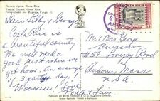 Costa Rica Ox Cart - Used Stamp 1962 Cancel Postcard