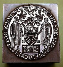 """British Medical Association"" Printing Block."