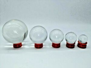Clear Crystal Ball 30-80mm Glass Lens Sphere Photography & Decoration Gift US