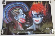 """Vintage 1985 Wizard & Genius Punks Peter French 80's Punk 27"""" x 35.5"""" Poster"""