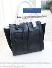 Mimco Highland Leather Tote Satchel Shoulder Bag Handbag Black