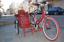 Tandem rickshaw tricycle red customizable