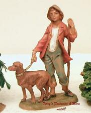 "Fontanini Depose Italy 5"" Zachariah w/Dog Nativity Village Figure 52582 Nib"