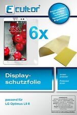 6x LG Optimus L9 2 screen protector protection guard crystal clear