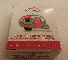 2015 Hallmark Christmas Miniature Ornament, Cozy Birdhouse Camper. NEW IN BOX