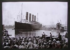 REPRODUCTION OF ORIGINAL PHOTO RMS LUSITANIA LEAVING NEW YORK FOR THE LAST TIME