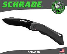 Schrade M.A.G.I.C. Folding Knife AUS-8 Carbon Steel Re-Curve Blade SCHA13B