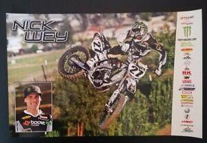 Vintage Poster Nick Wey Troy Racing Yamaha YZ 450F Motocross Supercross 2009