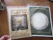 Lot of two candlewicking kits--sachets WKIT073 Daffodil and Sand Dollar #306