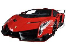 LAMBORGHINI VENENO RED WITH RED LINE 1/18 DIECAST MODEL CAR KYOSHO 09501 RPR
