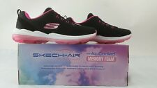 ! nuevo! Skechers de Mujer Skech Air Deluxe nighttide Sneaker Negro caliente rosa 5M US