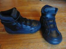 new toddler boys converse pro blaze strap hi top shoes size 6 black/black