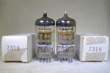 NOS/NIB Matched Pair Amperex PQ 7316/12AU7 Holland Short Plate O-Getter 1973 Ct5