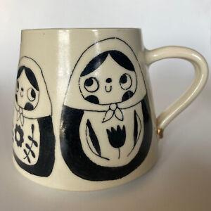 Handmade Ceramic Mug Handle Repaired Nesting Folls