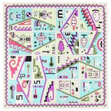 """EMILIO PUCCI c.1960 """"Idolo"""" Signature Print Multicolor Silk Scarf"""