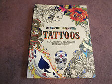 Inspired Tattoos Adult Coloring Book 100 Pages to Color Unused WOW