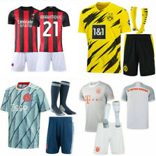 20-21 Football Club Full Kit Kids Boys Youth Soccer Jersey Strip Sports Outfits