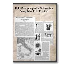 1911 Encyclopedia Britannica: Complete 33 Volume 11th Edition + 12th Edition E29