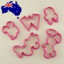 Mickey Mouse Minnie Mouse Cutter 5 pce Set - Cookies Cupcakes Cake Mickey Mouse