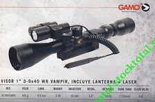 "VISOR TELESCOPICO GAMO SERIE SPORTER 1"" 3-9X40WR VAMPIR +LINTERNA + LASER"