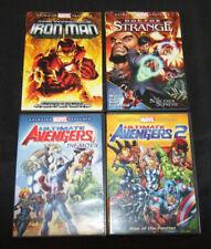 ANIMATED MARVEL FEATURES 4PC DVD SET/LOT ULT. AVENGERS 1+2, DR.STRANGE, IRON MAN