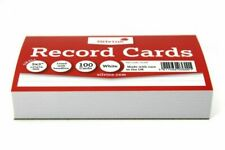 Silvine 553W Lined Record Cards, White - Pack of 100