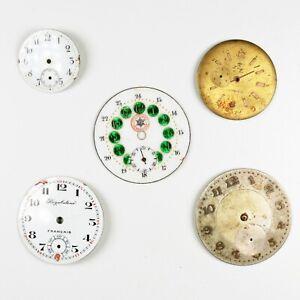 Lotto di 5 Quadranti per Orologio da Tasca  Vintage Pocket Watch Dials