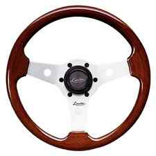 "CLASSIC SPORT WOOD STEERING WHEEL 310mm 12.3"" LUISI MAHOGANY SPORT MADE IN ITALY"
