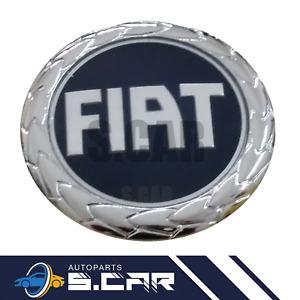FREGIO STEMMA LOGO BLU POSTERIORE 85 MM per FIAT PANDA GRANDE PUNTO 16 CROMA