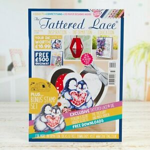 Tattered lace magazine 73, free  Penguin die + large Igloo stamp , papers,