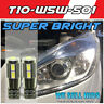 10 smd 501 W5W T10 LED CanBus sidelight bulbs 5630 SMD bulbs with lens (Pair)
