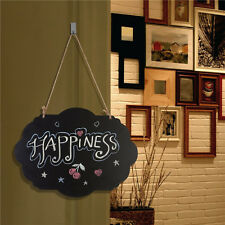 2pcs Chalkboard Sign Double Sided Erasable Message Board with Hanging String