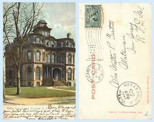 Battin High School Elizabeth New Jersey dated 1907 UDB Postcard - Architecture
