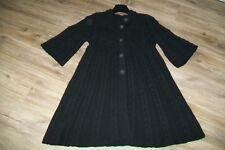 Sita Murt-black wool blend knitted coat/cardi coat.EU 42.Used.RRP 215 Euro.