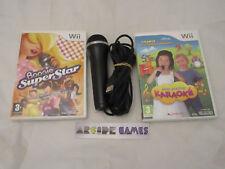 LOT MICRO + 2 JEUX MON PREMIER KARAOKE + BOOGIE SUPERSTAR Wii (vendeur pro)
