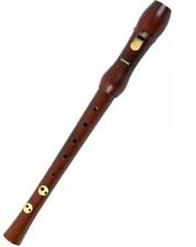 Hohner 9556 flauta soprano madera Peral barnizada doble agujero