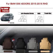 "Full Set 1/2""Thick Solid Nylon Interior Floor Carpet Mats For RHD BMW E66 15-16"
