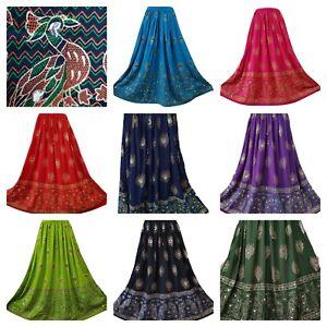 Party Sequin Skirt Boho Peacock Bollywood Dance Formal Fancy Long Regular Size