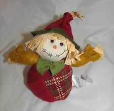 Red Hat Scarecrow Plush Country Primitive Thanksgiving Autumn Fall Home Decor