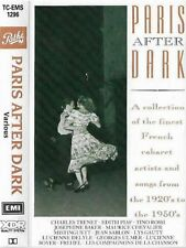 Various ‎Paris After Dark CASSETTE ALBUM POP Chanson Edith Piaf Chevalier