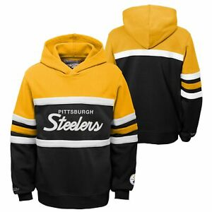 Mitchell & Ness NFL Football Youth (8-20) Pittsburgh Steelers Head Coach Hoodie