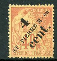 French Colonies 1892 St Pierre Miquelon 4¢/40¢ SG #45 Mint R672 ⭐⭐⭐⭐⭐⭐