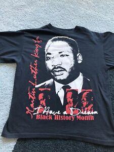 VINTAGE MLK Martin Luther King Jr Rap Tee Black History Rap Shirt Size - Large